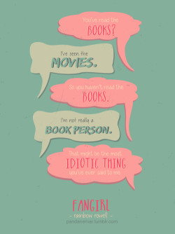 couple quotes Typography books teens conversation fan art fangirl ...