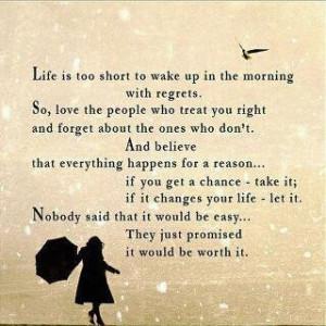 Appreciate Life, Life quote