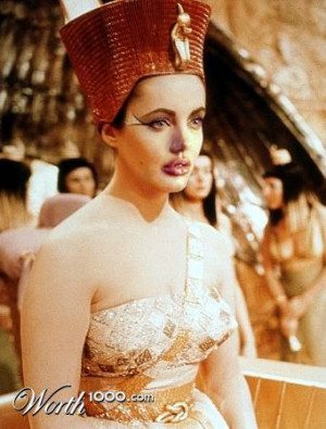 Angelina Jolie in a Cleopatra's fanart!I don't know from where ...