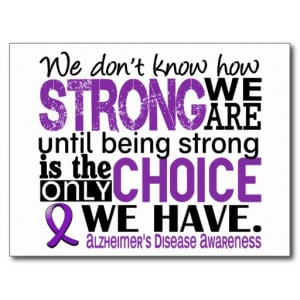 Alzheimers Disease I Stand Alongside My Hero Postcards