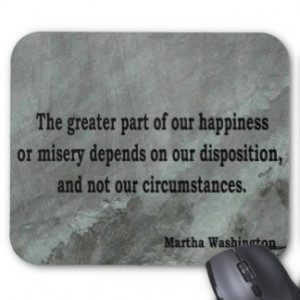 Martha Washington Quote Mouse Mat