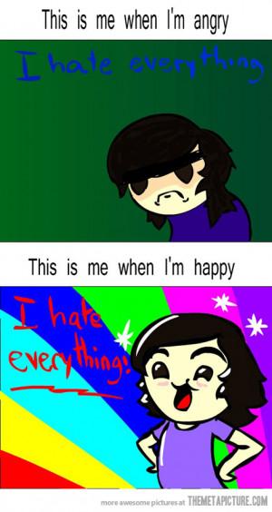 Funny photos funny angry vs happy mood