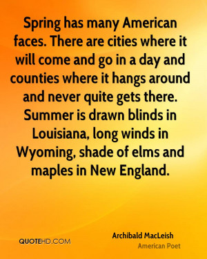 Spring has many American faces. There are cities where it will come ...