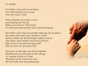 ... Father's Day Poem From Unborn Child Are So Famous And Moved To Tear