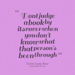 ... dont judge a b don t judge a book by its don t judge a book by its