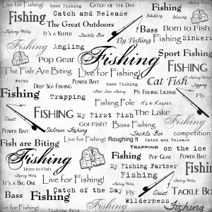 Scrapbook Customs - Sports Collection - 12 x 12 Paper - Fishing - Live ...