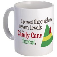 Elf: Buddy's Musical Christmas Candy Cane Forest Quote Mug Elf Movie ...