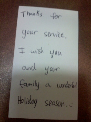 ... your service. I wish you and your family a wonderful holiday season