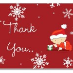 Christmas thank you cards for teachers