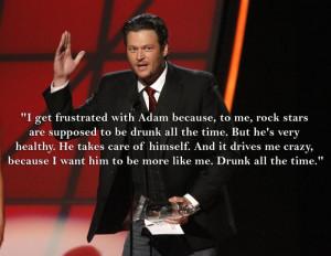 Why Blake Shelton Wants Adam Levine to Start Drinking