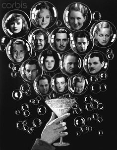 ... , third row, Alfred Lunt, Lynn Fontanne, Wallace Beery, Lawrence