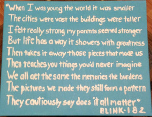 Blink-182 quote