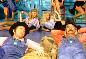 and lest we not forget... Hee Haw! (short shorts, cleavage, Barbi ...