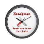 Handyman Funny Wall Clock