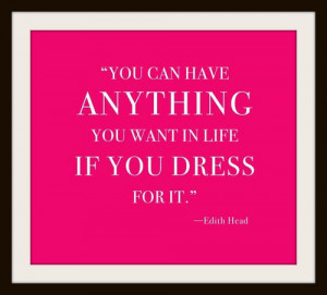 fashion quotes edith head dress