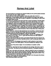juliet capulet essays Juliet capulet died on november 1st 2002 she was born in the national hospital of verona on 24th july 1988 she died at the age of fourteen she committed suicide by.