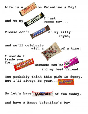 Candy Play On Words Candygram. Candy Bar Birthday Card Sayings . View ...