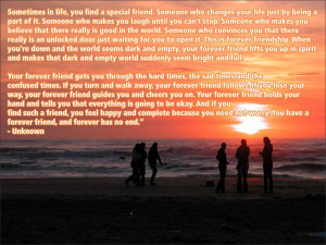 Sometimes in life, you find a special friend. Someone who changes your ...