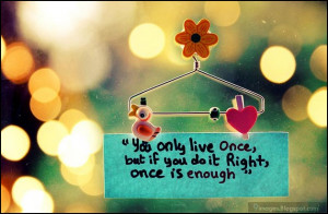 quotes, heart, art, you-only-live-once-but-if-you-do-it-right-once-is ...