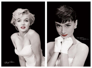 Marilyn Monroe, Audrey Hepburn CLASSIC BEAUTY 2-Poster Combo - Pyramid ...