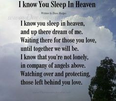 know you sleep in heaven # quote more angel memories tablet quotes ...