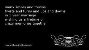 funny 1st wedding anniversary poems