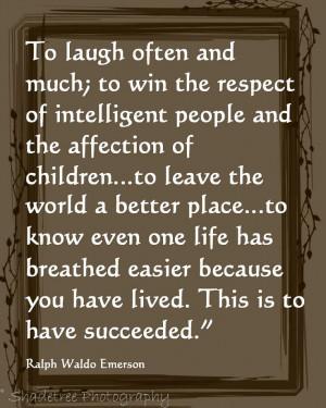 Ralph Waldo Emerson, Inspirational Quote, Poetry, Succeeding ...