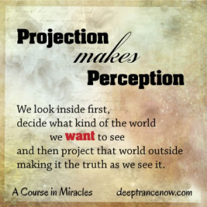 ACIM - Projection makes perception