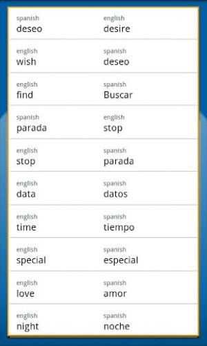 Spanish English Translation