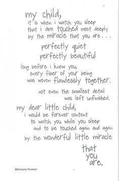 Dinglefoot's Scrapbooking - Watching Baby Sleep - Poem For A Page ...