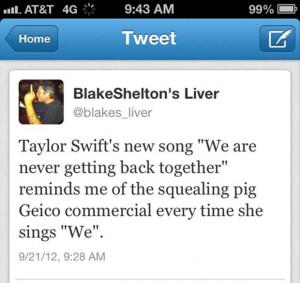 Funny Blake Shelton Twitter