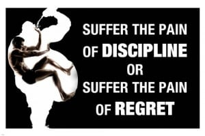 PAIN DISCIPLINE quote motivational poster 24X36 work out INSPIRATIONAL