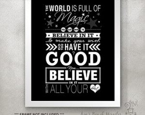 OTH PRINT (One Tree Hill quote) / I nspiring Typography Poster / World ...