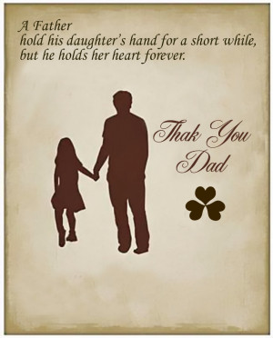 Father hold his daughter's hand for a short while, but he holds ...