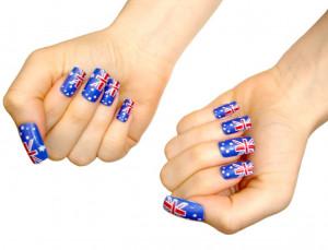 Australian flag fingernails australia day merchandise