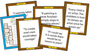 ... quotes from famous artists is a way to display famous quotes anywhere