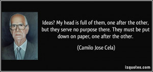 More Camilo Jose Cela Quotes