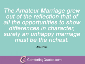 Unhappy Marriage Quotes Sayings Anne tyler quotes and sayings