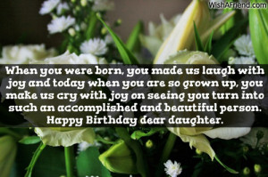 ... turn into such an accomplished and beautiful person. Happy Birthday