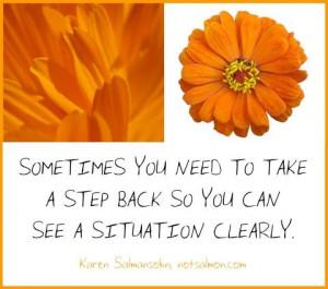 take a step back...