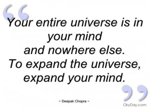 deepak+chopra+quotes+on+mindfulness | ... entire universe is in your ...