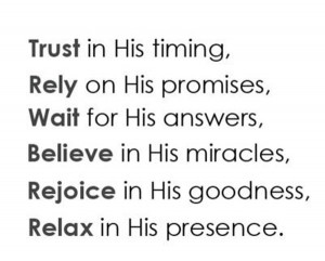 Have Faith and Trust in God Quotes