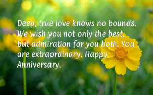 ... but admiration for you both. You are extraordinary. Happy Anniversary