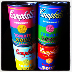 Andy Warhol x Campbell's Soup 50th Anniversary Tomato Soup Cans