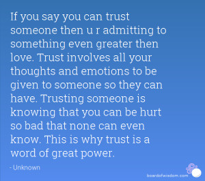 TRUST iS THE HARDEST THiNG TO FiND