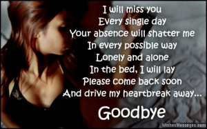 Goodbye messages for husband