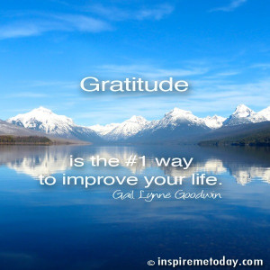Gratitude is the #1 way to improve your life.