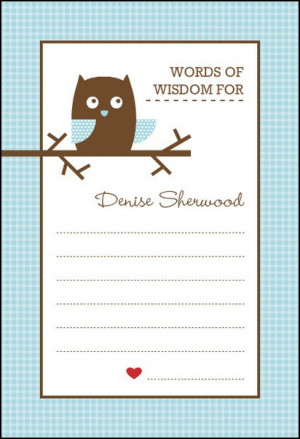 posts related to baby shower words of wisdom template