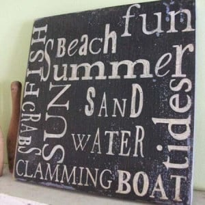Beach fun summer sand sun water quote