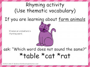 Read a poem or sing a song with rhymes . Students can clap or stand ...